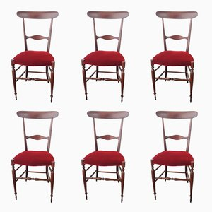 Vintage Chiavari Campanino Chairs from Fratelli Levaggi, Set of 6