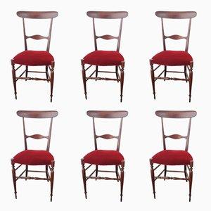 Vintage Chiavari Campanino Stühle von Fratelli Levaggi, 6er Set