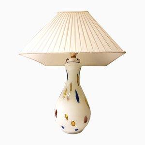 Lámpara italiana vintage de cristal de Murano de Dino Martens para Aureliano Toso