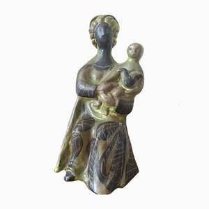 Mother and Child Sculpture by Roger Capron, 1950s