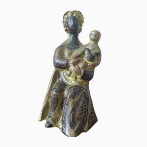 Sculpture Mère et Enfant par Roger Capron, 1950s