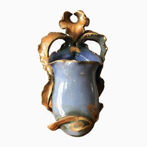 Art Nouveau Ceramic Orchid by Paul Dachsel for Amphora, 1900s