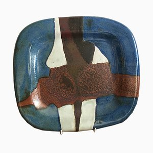 Ceramic Earthenware Platter by Jacques Pouchain, 1970s