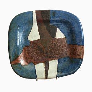 Ceramic Earthenware Platter by Jacques Pouchain, 1970s