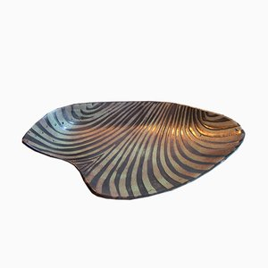 Large Waves Dish by Roger Capron, 1950s