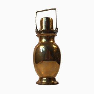Thermos vintage in ottone con coperchio avvitabile, anni '30