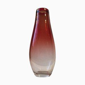 Jarrón Mid-Century de vidrio de Nils Landberg para Orrefors, años 50
