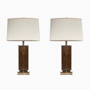 Lámparas de mesa de Belgochrome, años 70. Juego de 2