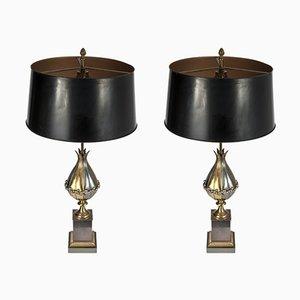 Lámparas de mesa de Maison Charles, años 80. Juego de 2