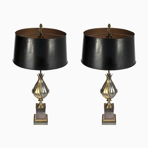 Tischlampen von Maison Charles, 1980er, 2er Set