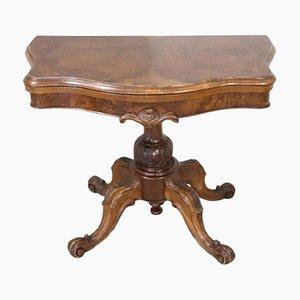 Antiker Spieltisch aus Nussholz & Dornbusch, 1850er
