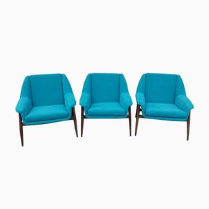 Vintage Easy Chairs by Walter Knoll, 1950s, Set of 3