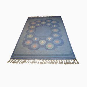 Swedish Flat Weave Rug by Anna Johanna Ångström for Axeco, 1960s