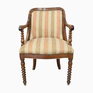 Antiker Empire Stuhl aus solidem Nussholz