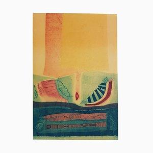 Conversando Sobre Algunas Cosas Del Mundo Engraving by Jiliberto Paca, 1986