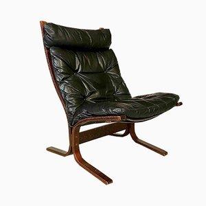Siesta Leather Highback Chair by Ingmar Relling for Westnofa, 1960s