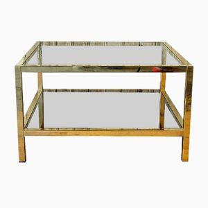 Table Basse Dorée de Belgo Chrom, 1970s