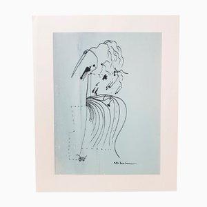 Druck von Federico Garcia Lorca, 1980er