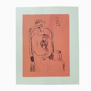 Print by Federico Garcia Lorca, 1980s