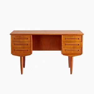 Dänischer Vintage Schreibtisch mit sechs Schubladen aus Teak, 1960er