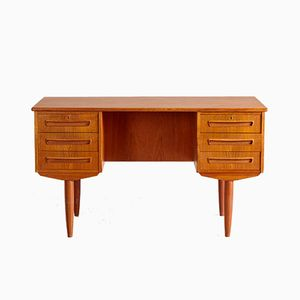Vintage Danish Six-Drawer Teak Desk, 1960s
