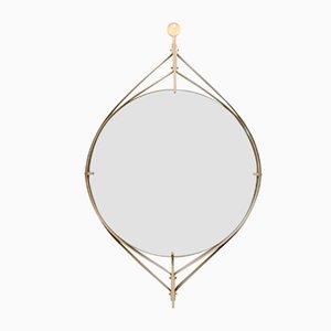 Italienischer Vintage Spiegel mit Rahmen aus Messing, 1960er