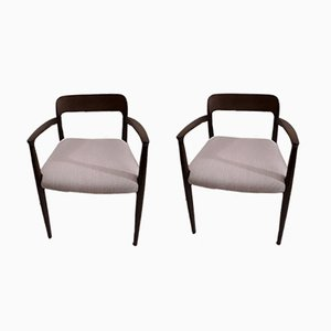 Model 56 Oak Armchairs by Niels Möller for J.L. Møllers, 1950s, Set of 2