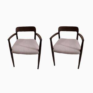 Modell 56 Stühle aus Eiche von Niels Möller für J.L. Møllers, 1950er, 2er Set
