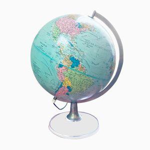 Beleuchteter französischer Vintage Globus, 1960er