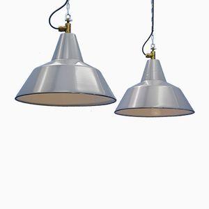 Industrielle emaillierte Lampen von Philips, 1960er, 2er Set