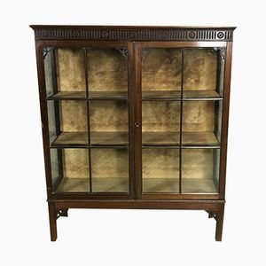 19th Century Mahogany Showcase