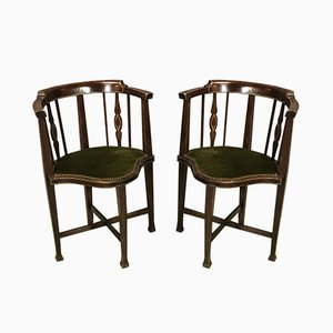 19th Century Mahogany Side Chairs, Set of 2