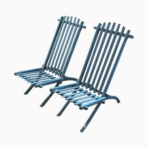 Antike französische Gartenstühle, 2er Set