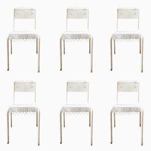 Stühle aus Lochblech, 1950er, 6er Set