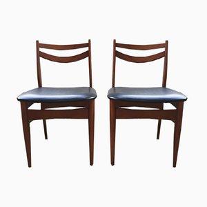 Paar skandinavische Vintage Stühle