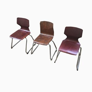 Mid-Century Children's Chairs from Pagholz, Set of 3