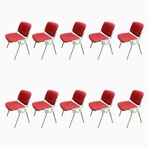 Chaises DSC 106 par Giancarlo Piretti pour Castelli, 1960s, Set de 10