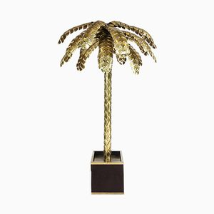 Large Brass Palm Tree Floor Lamp from Maison Jansen, 1970s