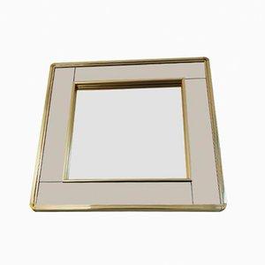 Espejo vintage con marco bañado en oro de Belgo Chrom, años 80