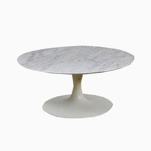Mesa de centro vintage de mármol de Carrara, años 60