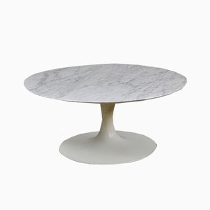 Vintage Carrara Marble Coffee Table, 1960s