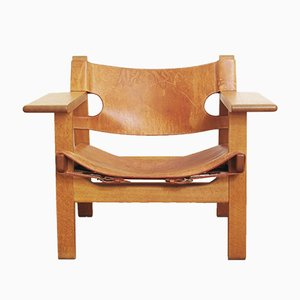 Vintage Model Spanish Chair Lounge Chair by Borge Mogensen for Fredericia