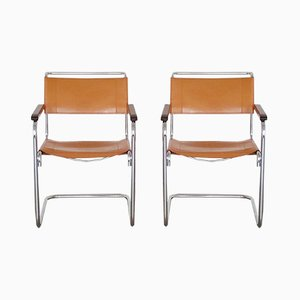 Cantilever Armchairs S34 by Mart Stam for Thonet, 1980s, Set of 2