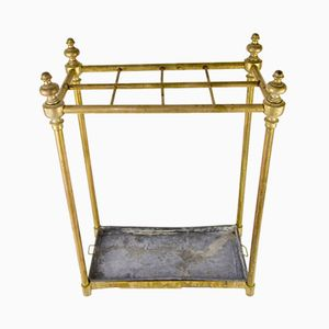 Art Deco Brass Umbrella Stand, 1930s