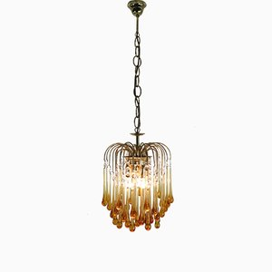 Vintage Murano Glass Tear Drop Chandelier by Paolo Vanini, 1960s