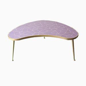Vintage German Mosaic Kidney Table in Lilac