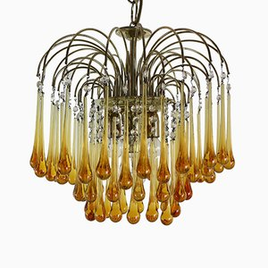 Vintage Murano Glass Chandelier by Paolo Venini, 1960s