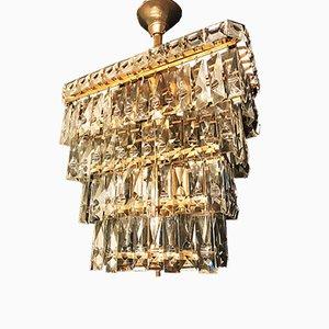 Lámpara de araña vintage de cristal de Murano de cinco pisos, 1955