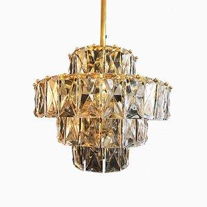 Lámpara de araña con armazón dorado de cuatro niveles de Kinkeldey, 1965