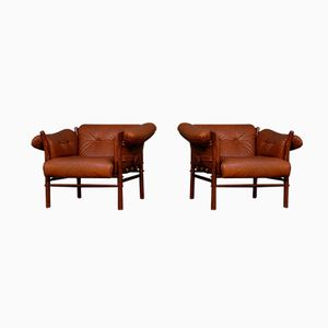 Ilona Easy Chairs by Arne Norell, 1970s, Set of 2
